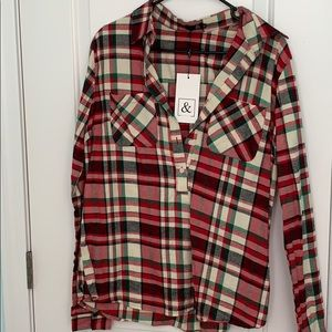 NWT ampersand ave flannel xl